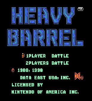 【FC】重裝作戰(Heavy.Barrel)原版+無限命、無限鑰匙、無限彈藥、死亡後保留武器!