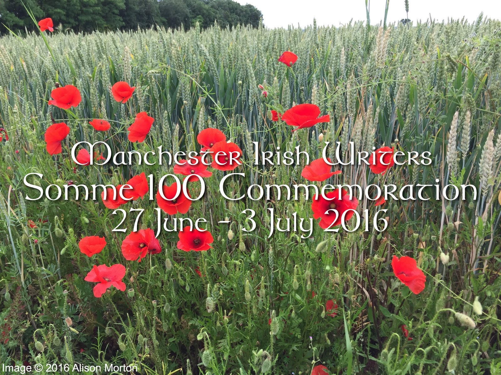 Manchester Irish Writers Who Shall Divide Us Poem For Somme 100