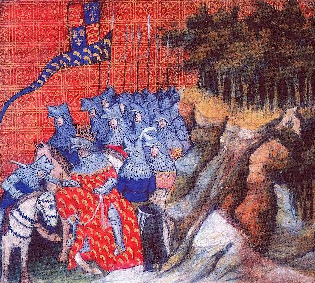 Ricardo III, rei da Inglaterra, faz cavaleiro a Enrique de Monmouth, futuro Enrique V, Jean Creton, 1405.