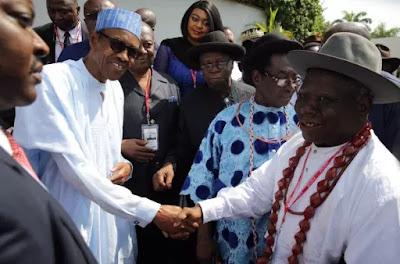 Chief Edwin Clark and president Buhari
