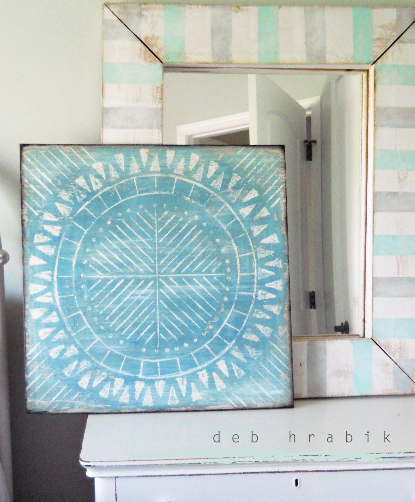 Geometric Beach Blue Medallion Wall Art