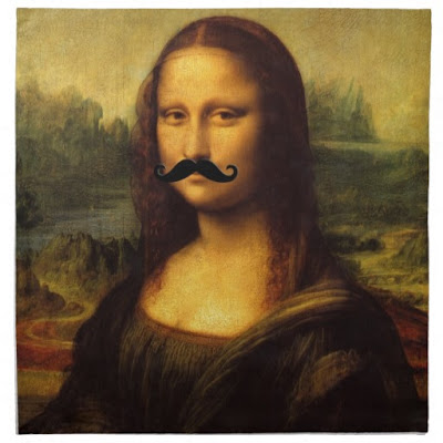 Image result for mona lisa with a mustache