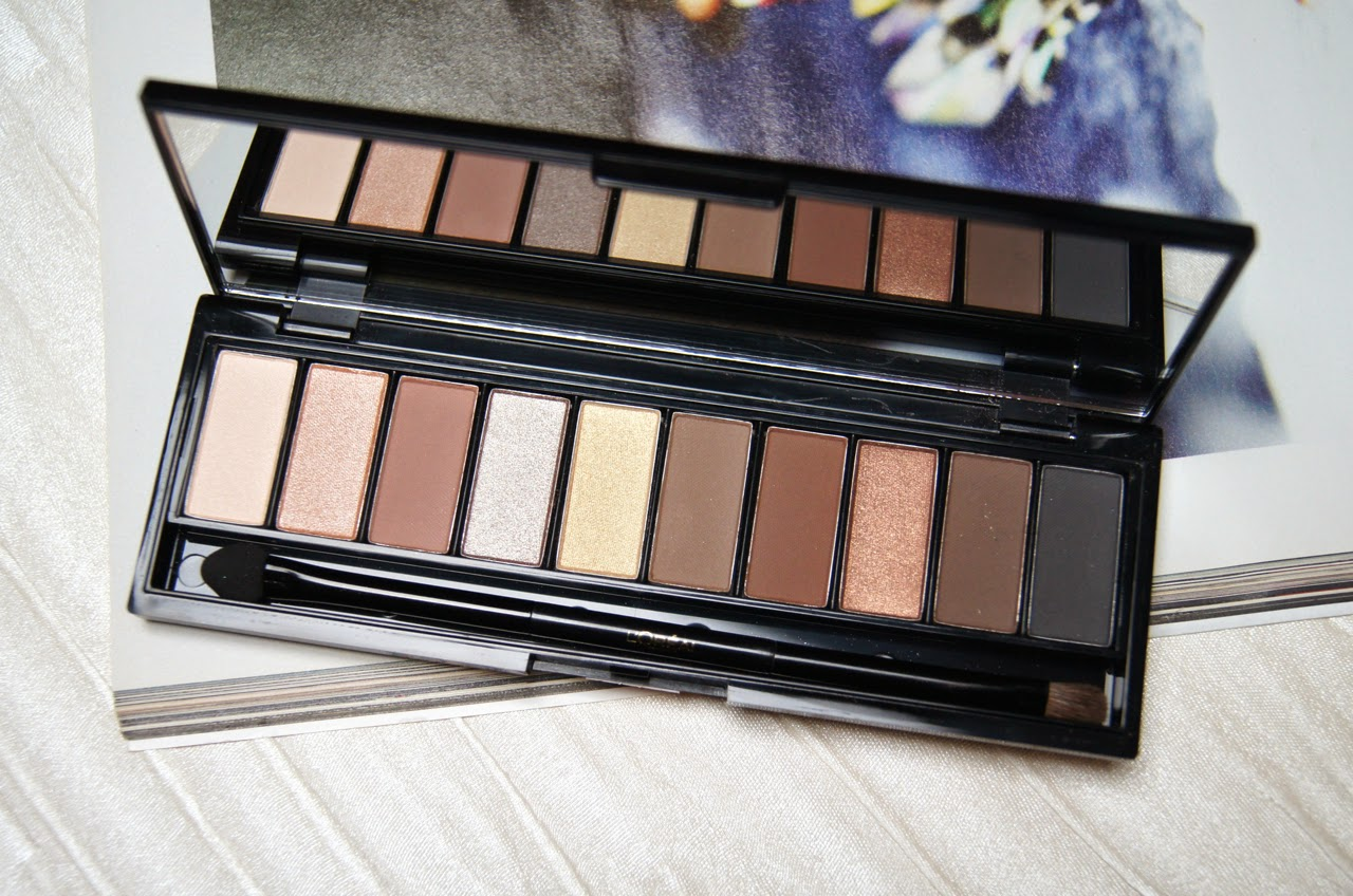 loreal la palette nude beige review swatches