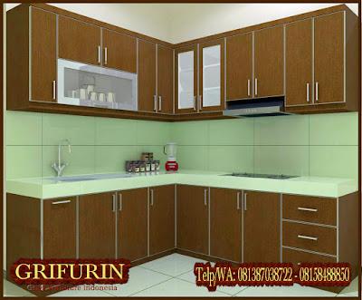 Harga Jasa Pembuatan Furniture Kitchen set HPL Coklat