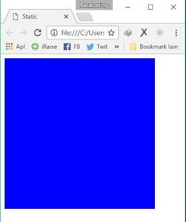 Cara Memposisikan Website Menjadi Static