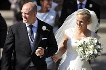 7 Zara Phillips & Mike Tindall