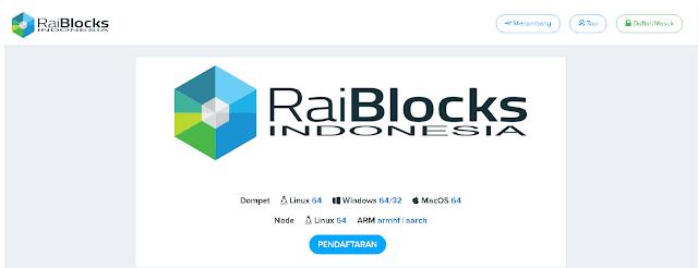 Halaman Utama Raiblocks.co.id