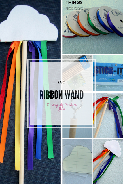 DIY Ribbon Wand - things needed and DIY steps