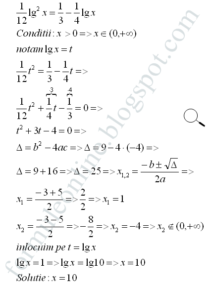 logarithmic eguations examples with solutions