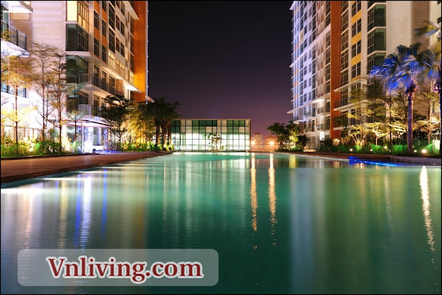 The Vista apartment for rent 2 bedrooms swimming pool view fully furniture