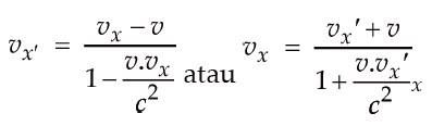 Rumus Relativitas Einstein