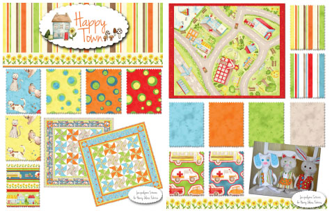 Happy Town Fabric at Fat Quarters