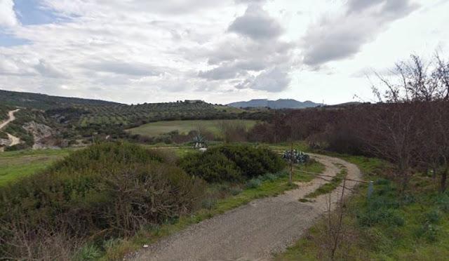 accesso dalla strada SP 3 vicino la Masseria Passarelli