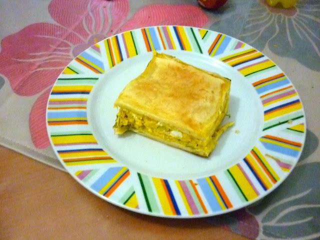 Κολοκυθόπιτα με κίτρινη κολοκύθα με τυρί και άνηθο