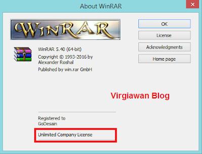 Cara aktivasi WinRAR menjadi full version