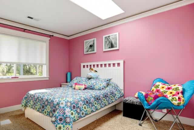 cat kamar yang bagus untuk anak perempuan - pilihan warna yang tepat untuk kamar tidur