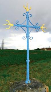 Croix peinte à Cour-Cheverny