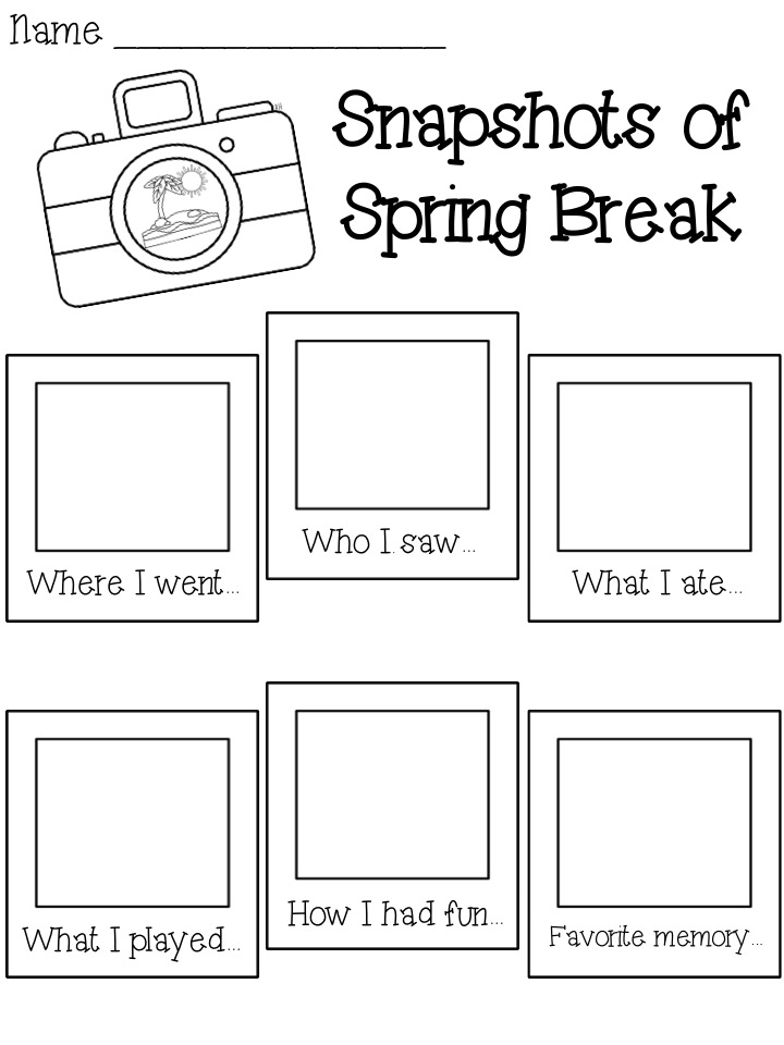 Pencils Books and Dirty Looks: Spring Break Freebie!
