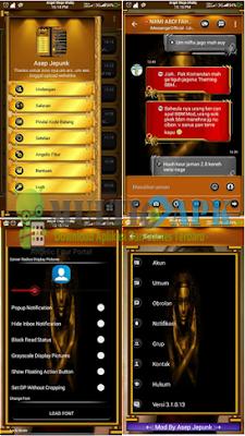 BBM Mod Black Gold Angelic Transparan Fitur v3.1.0.13 Apk Android