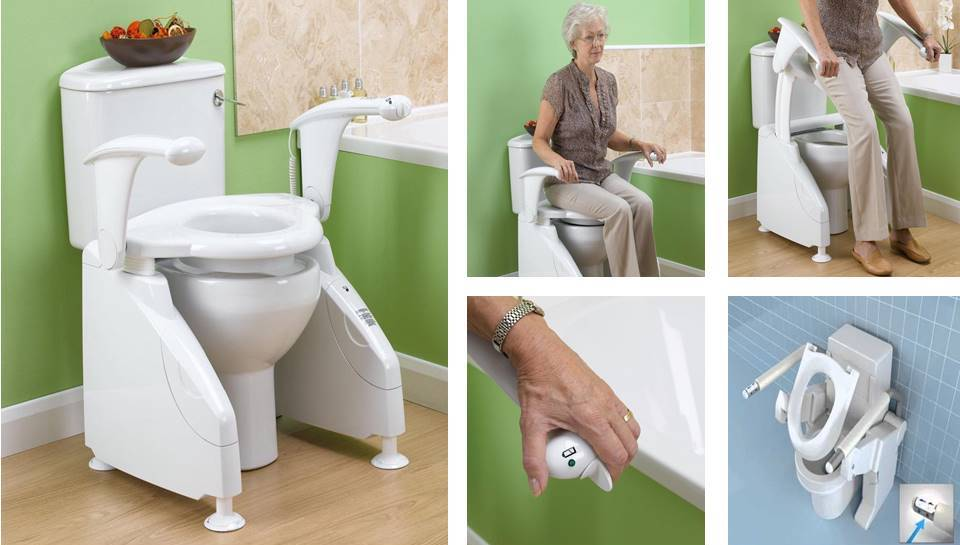 Neptune toilet lift Helps the elderly move in the toilets - Decor Units