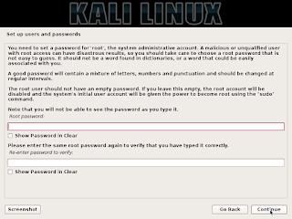 masukkan password yang ingin kamu gunakan