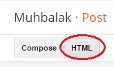 post mode html di blogspot