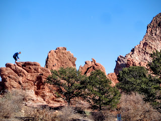 rock climbing in the Garden of the Gods in Colorado Springs