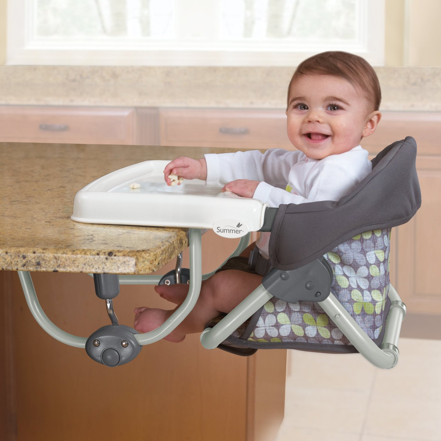 High Chair That Attaches To Counter How Much Is A Massage Baby Table Neat Idea
