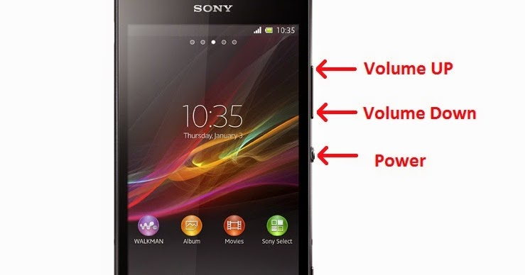 sony xperia p reset button