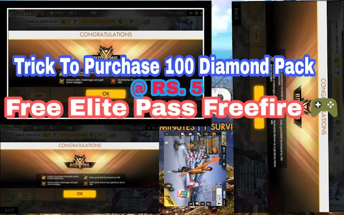 [ Free Elite Pass  ] How to Purchase Free Fire Elite Pass Free | Trick to Top Up 100 Diamonds at Just Rs. 5 | Free Weekly Pass , Elite Pass and Many More
