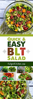 Quick and Easy BLT Salad  found on KalynsKitchen.com