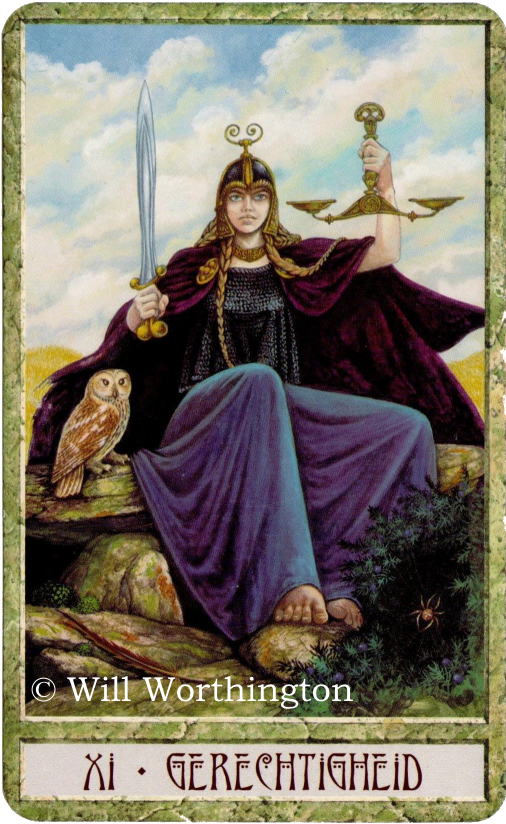 Druidcraft Tarot Justice Will Worthington