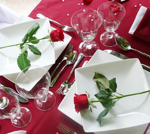 Consigli per la casa e l 39 arredamento san valentino idee per apparecchiare una tavola - Idee tavola san valentino ...