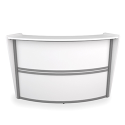 OFM Marque Reception Desk in White at OfficeAnything.com