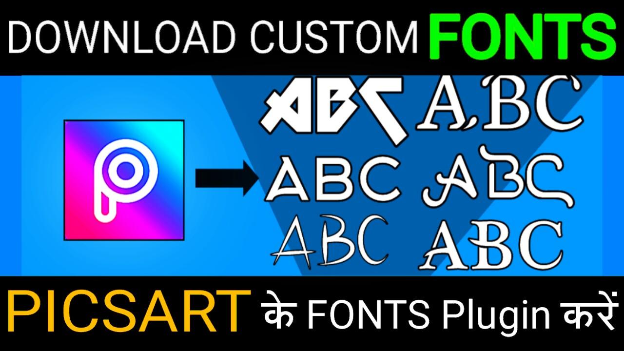 Download Custom fonts For picsArt     - Ds Edits and Tricks