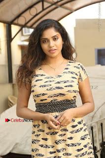 Telugu Actress Karunya Chowdary Stills in Short Dress at ATM Not Working Press Meet  0003.jpg