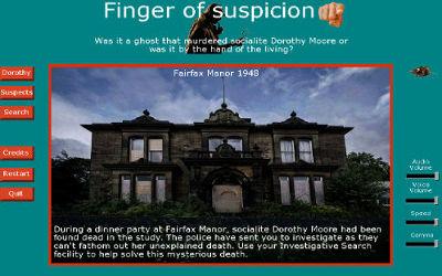 Finger of Suspicion - Jeu d'Aventure / Horreur sur PC