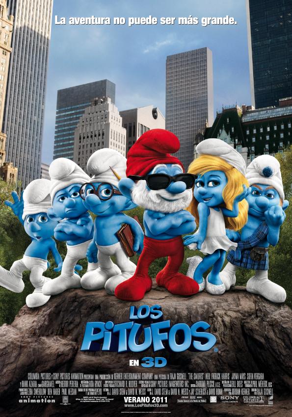 Póster de Los Pitufos 3D