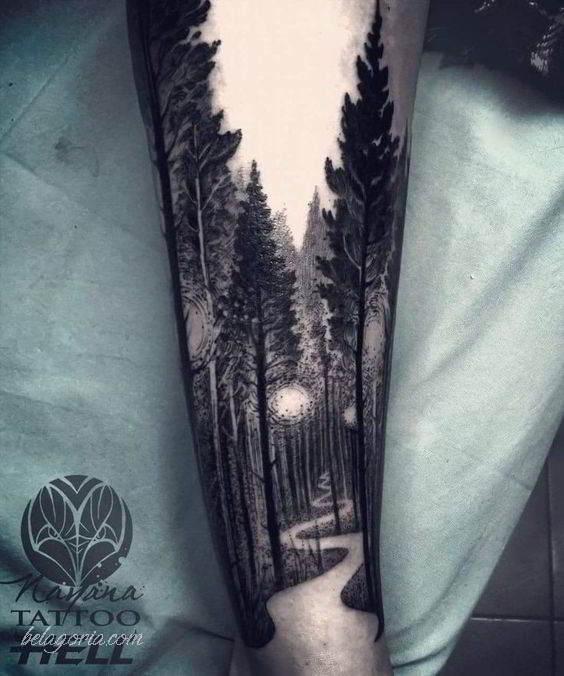 Espectaculares Tatuajes De Bosques Y Su Significado Belagoria La