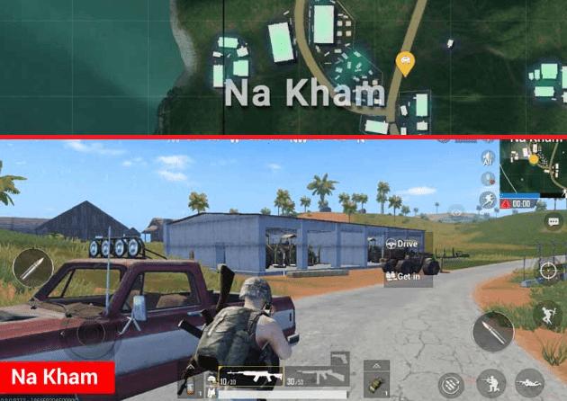 Na Kham Lokasi Terbaik di Map Sanhok PUBG Mobile