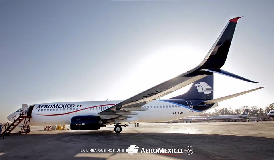 Flyingphotos Magazine News: AEROMEXICO: First B737-800Split Scimitar