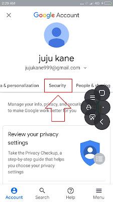 cara mengganti password gmail dari hp