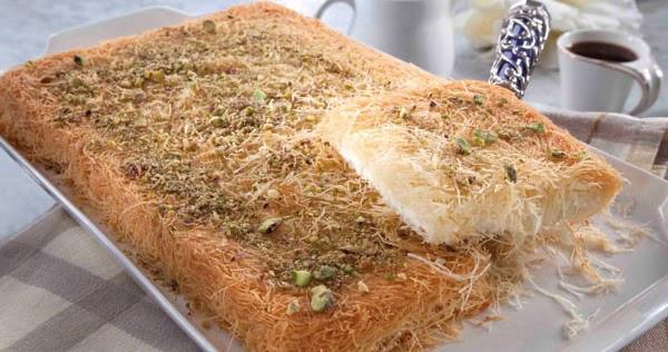 طريقة عمل كنافة بجبن القريش من مطبخ منال العالم