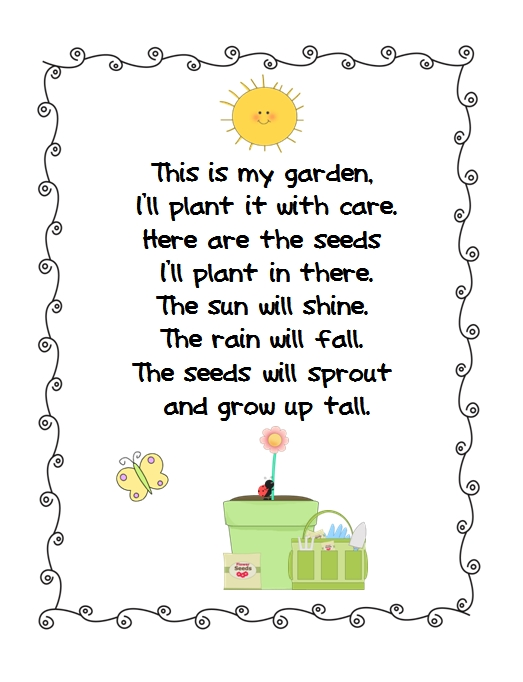 Time To Plant Grass Heads And Freebie on Cute Spring Poems