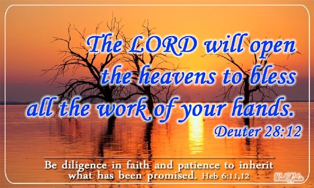 Word Of God Ministries Promise Card of 12th November 2013