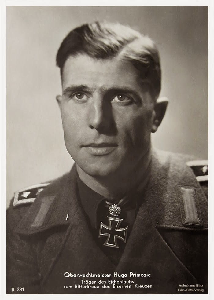 Hugo Primozic Ritterkreuzträger Knight Cross Holder Postcard