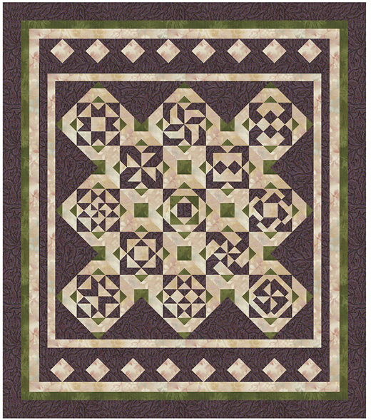 Purple Sage Quilt Free Pattern by Persimmon Quilts