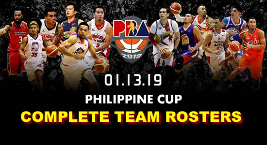 LIST: Team Rosters 2019 PBA Philippine Cup