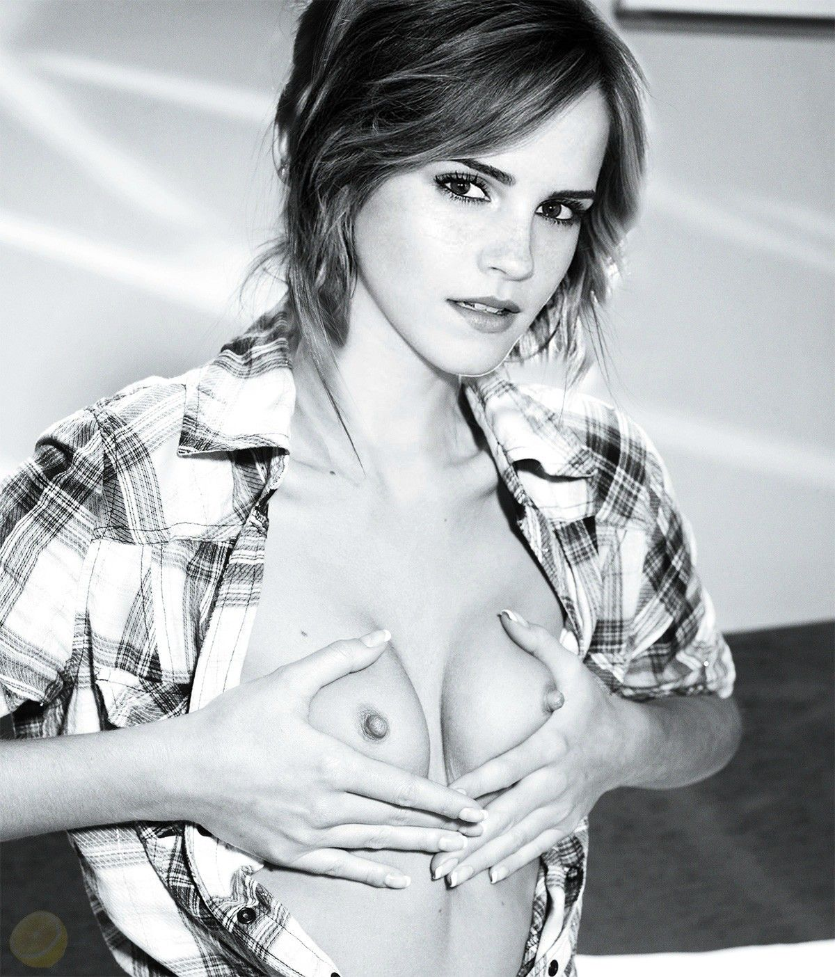 Emma Watson Boobs Pressed