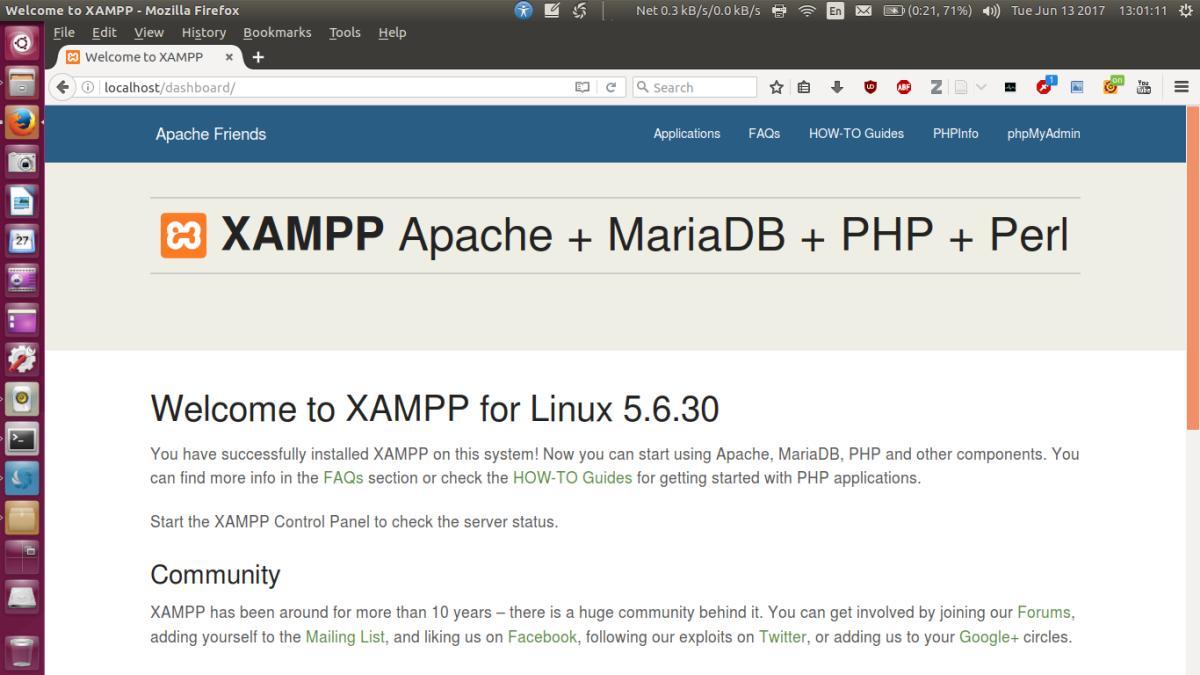How To Install XAMPP on Ubuntu 64 Bit